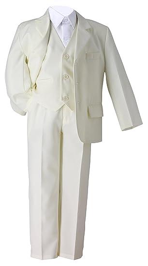 c056ce3a72f38 Costume Mariage Communion Enfant Ivoire 3 pièces  Amazon.fr ...