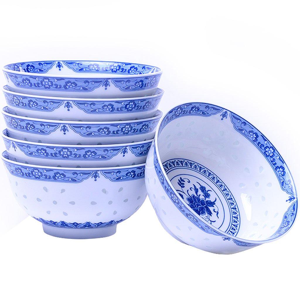 WANWY Azul y Blanco Cuenco de Porcelana Conjunto, harina de ...