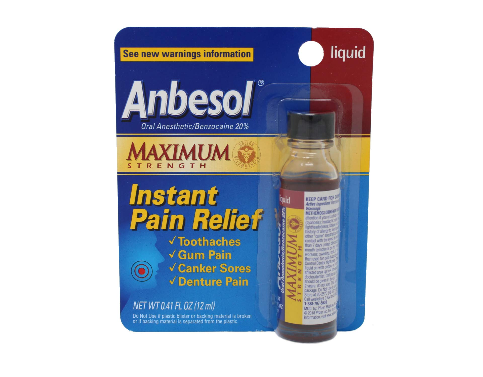Anbesol Liquid Maximum Strength, 0.41 Fl Oz