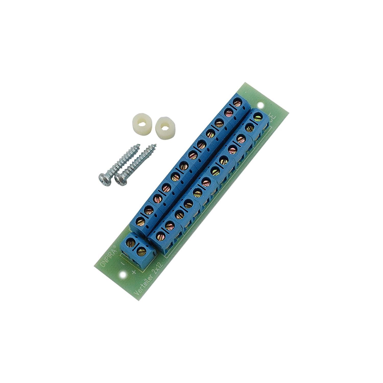 V2x12 Stromverteiler Verteiler Platine 8A belastbar Modellbau Gleich- und Wechselstrom Onpira