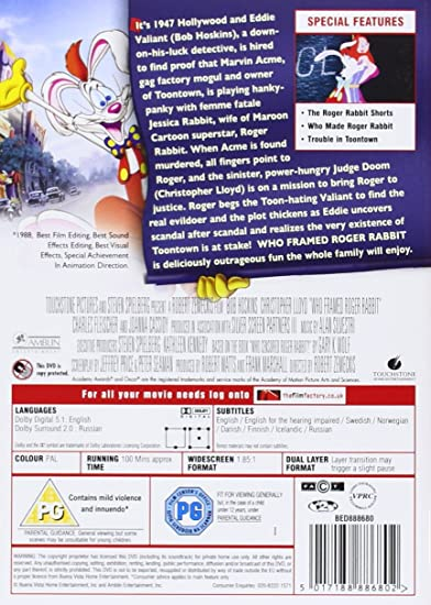 Who Framed Roger Rabbit [Reino Unido] [DVD]: Amazon.es: Bob Hoskins ...