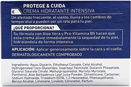 NIVEA MEN Protege & Cuida Crema Hidratante Intensiva (1 x 50 ml), crema facial hidratante con aloe vera, crema para hombres con la piel muy seca, nutre e hidrata