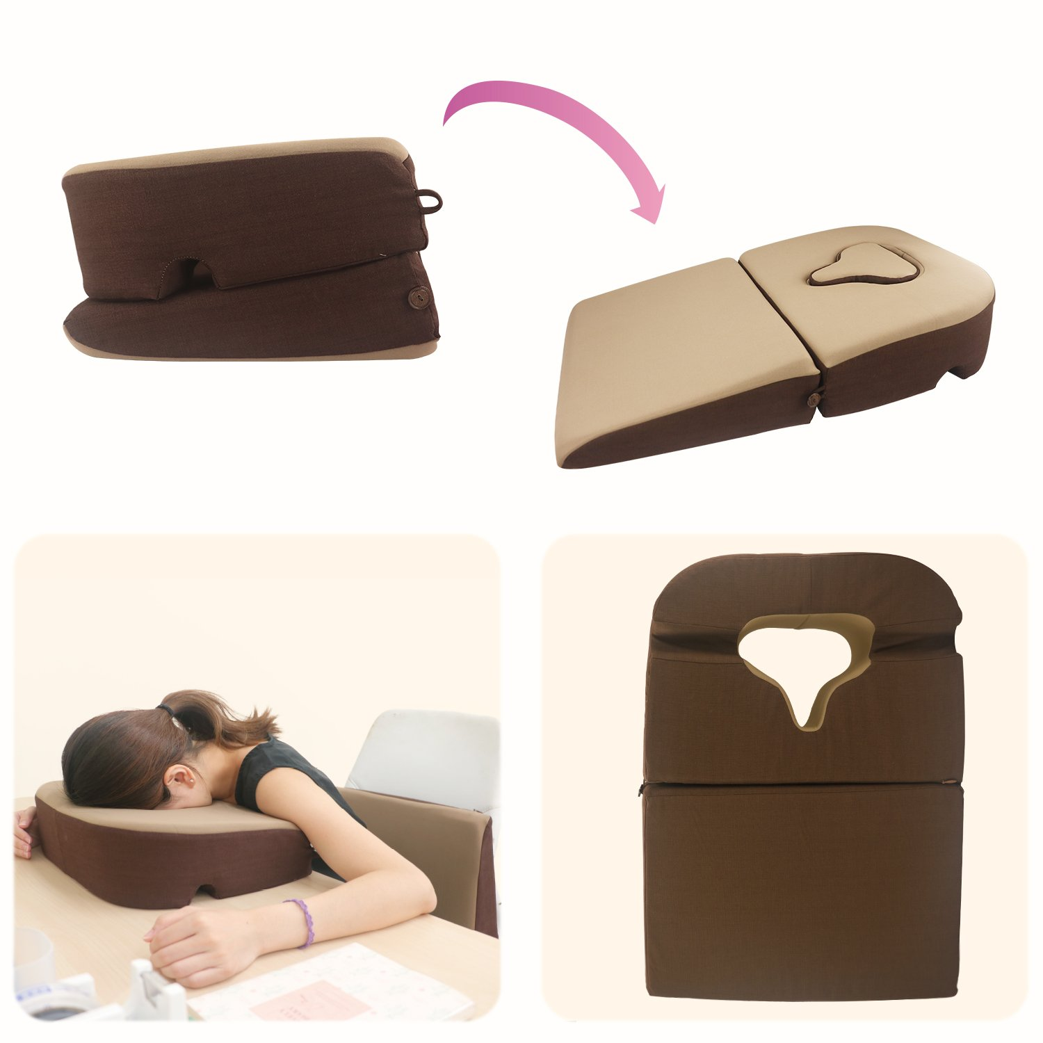 Prodigy TW Face Down Pillow, for Post-Eye-Surgery use,Wedge Cushion, Removable Cover by Prodigy TW (Image #2)