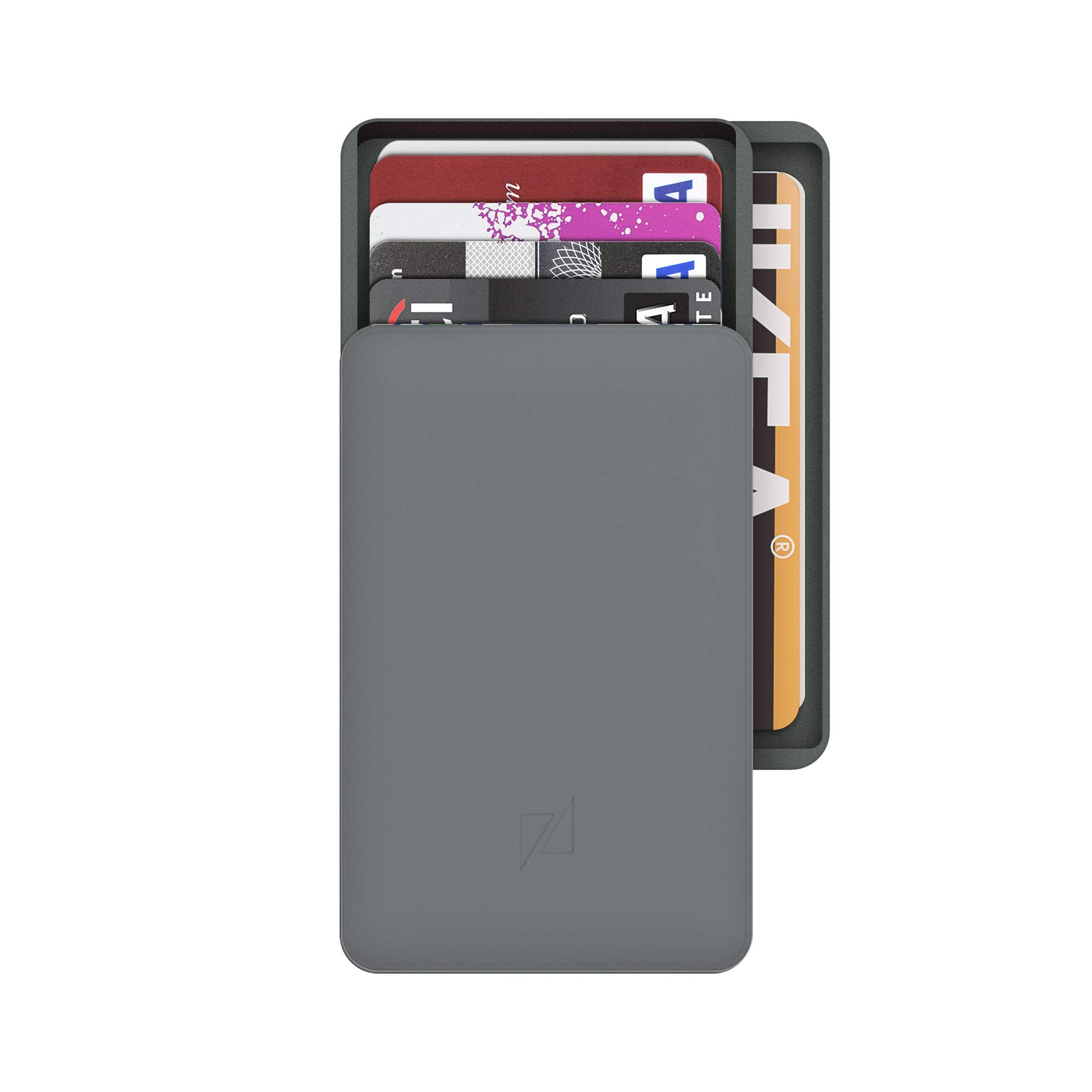Zenlet 2+|Aluminum RFID Blocking Wallet with double compartments (Space Grey)