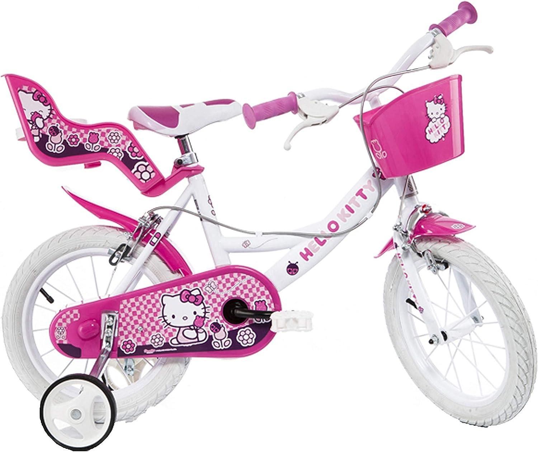 Bicicletta Bambina Hello Kitty 14pollici: Amazon.es: Deportes y ...