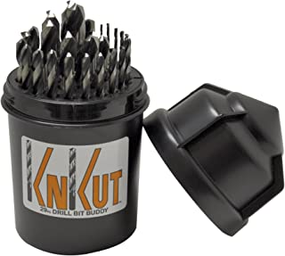 product image for KnKut 29KK5DB Jobber Set for 1/16-Inch to 1/2-Inch by 64ths Drill Buddy, 29-Piece