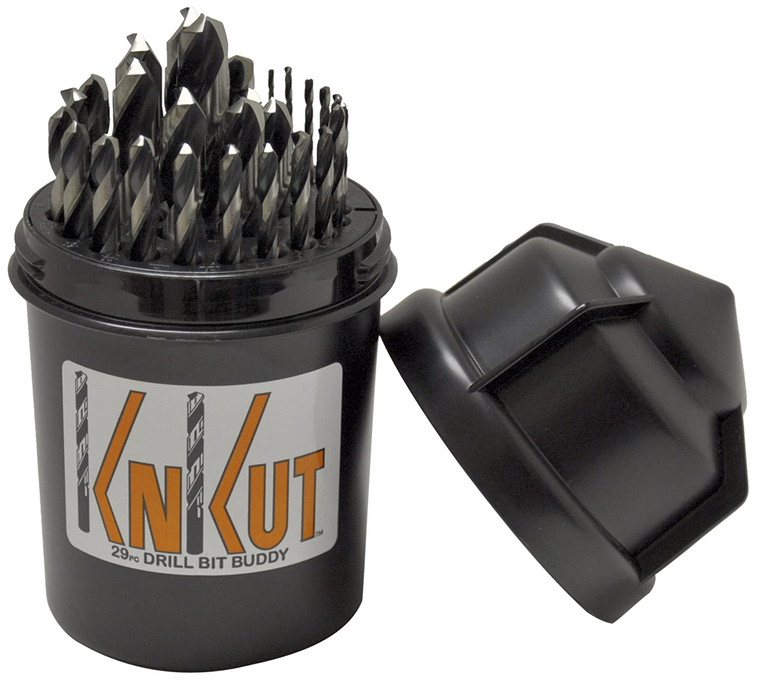 KnKut 29KK5DB Jobber Set for 1//16-Inch to 1//2-Inch by 64ths Drill Buddy 29-Piece