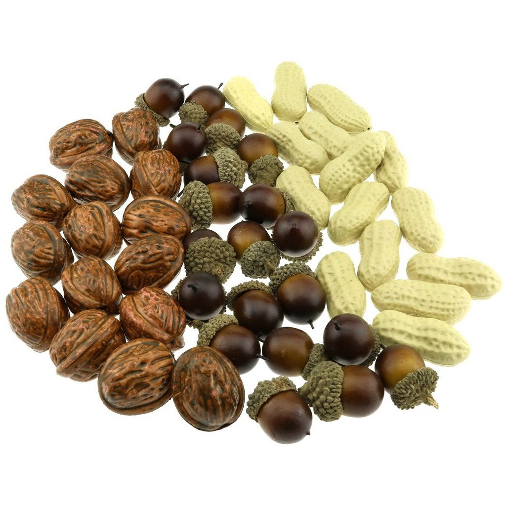 Gresorth Fake Nuts of Acorn Peanut Walnuts Artificial Fruits Set for Food  Kitchen Toy Home Christmas Party Decoration