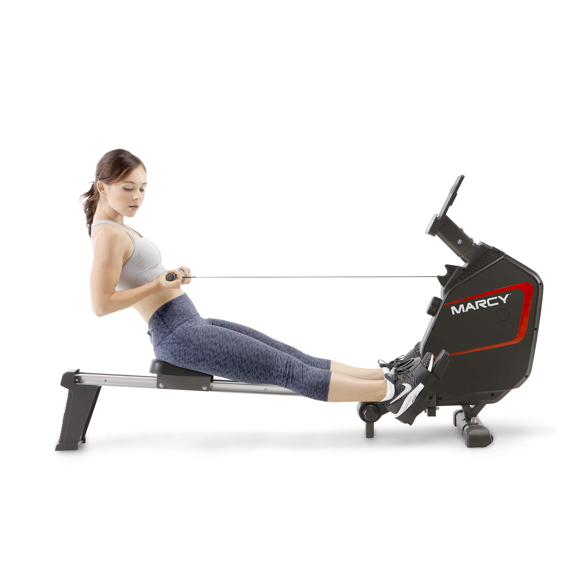 Marcy Foldable Regenerating Rowing Machine for Cardio and Strength Training Exercises NS-6002RE