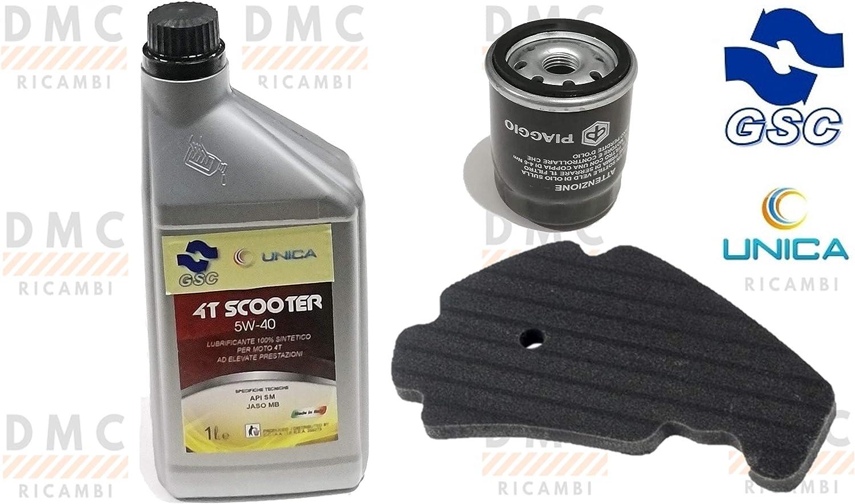 Kit de revisión Beverly 125 – 250 – 300 – 400 – 500 1 L de aceite 5 W 40: Amazon.es: Coche y moto