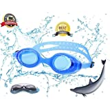 WireScorts Kids Adjustable Silicon Swimming Goggle/Children Non-Fogging Anti UV Eye Protection Swim Glass/Kids Swimming Goggle Swimming Goggle
