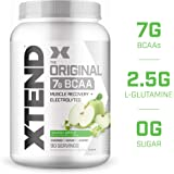 Scivation Xtend BCAA Powder, Green Apple, 90 Servings