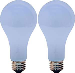 GE Lighting 73865 30/70/100W A21 Reveal 3-Way Table Lamp Bulb (2 Pack)