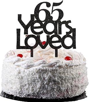 Amazon.com: 65 años Ser Querido, color negro acrílico pastel ...