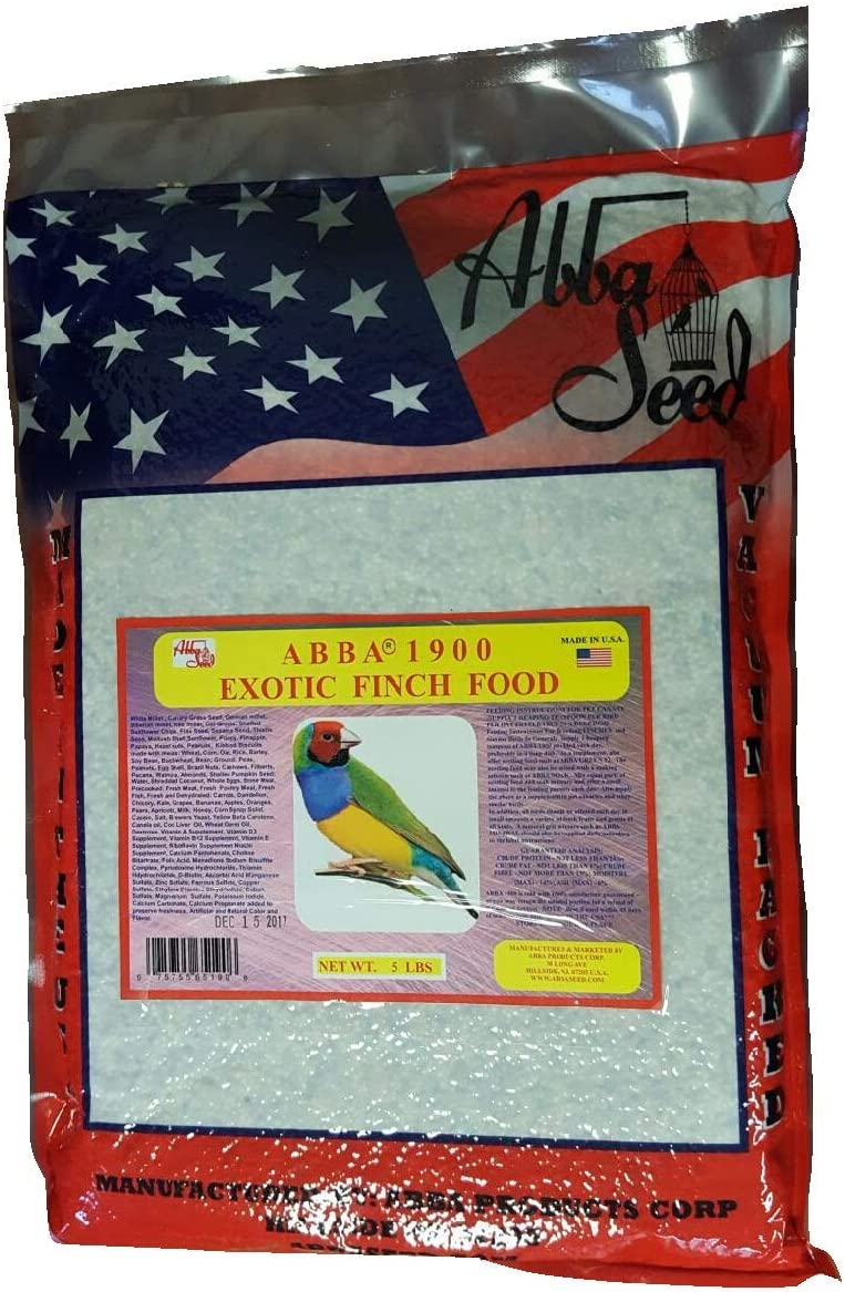 ABBA 1900 Bird Foods Exotic Finch Food 5lbs