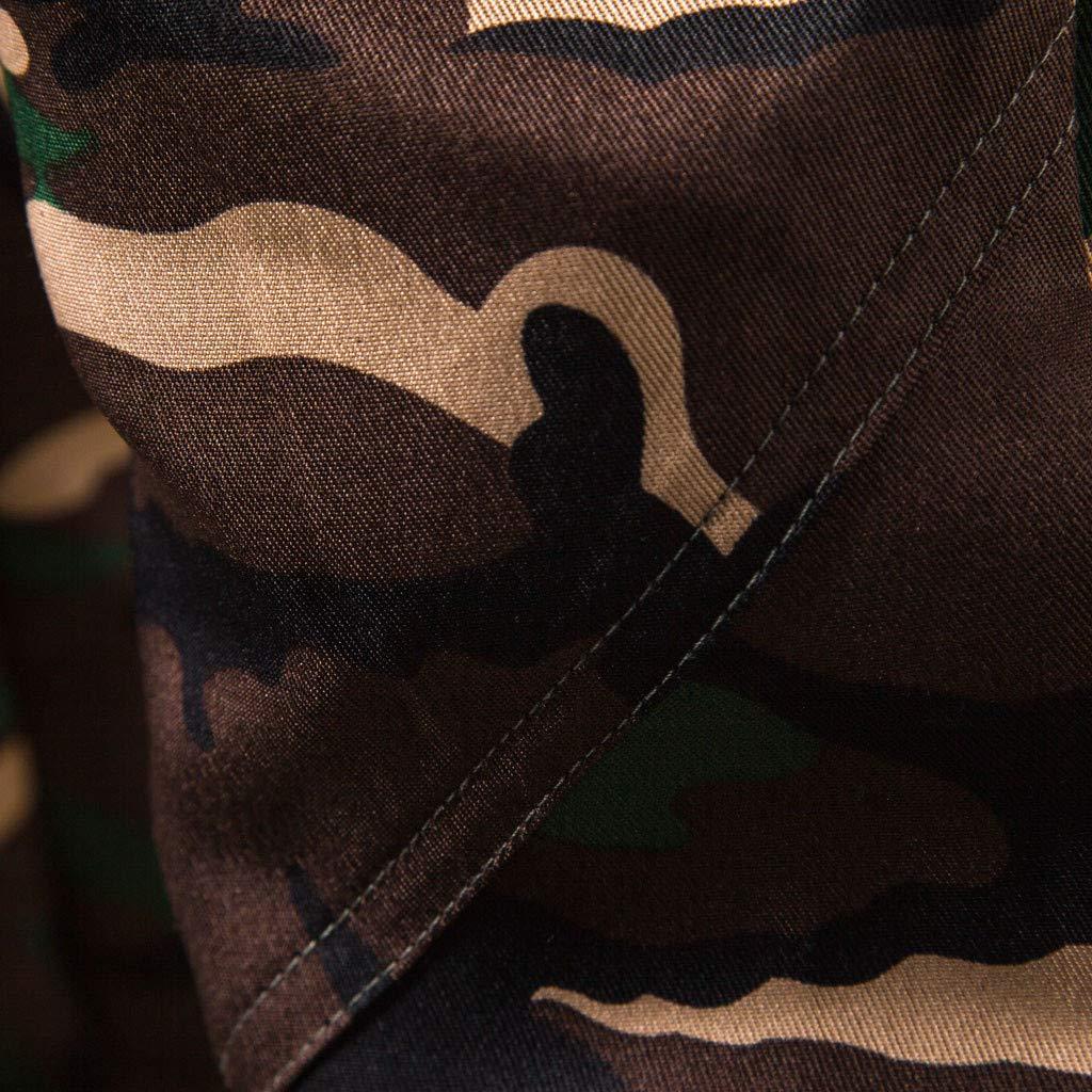 IEasⓄn Men's Camouflage Longs Cargo Pants,Man Fashion Casual Sport Tooling Pants by IEasⓄn (Image #3)