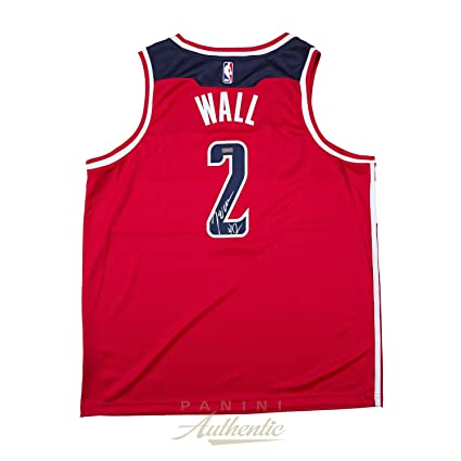 new product 82547 620e4 John Wall Autographed Jersey - Nike Red Swingman ~Open ...