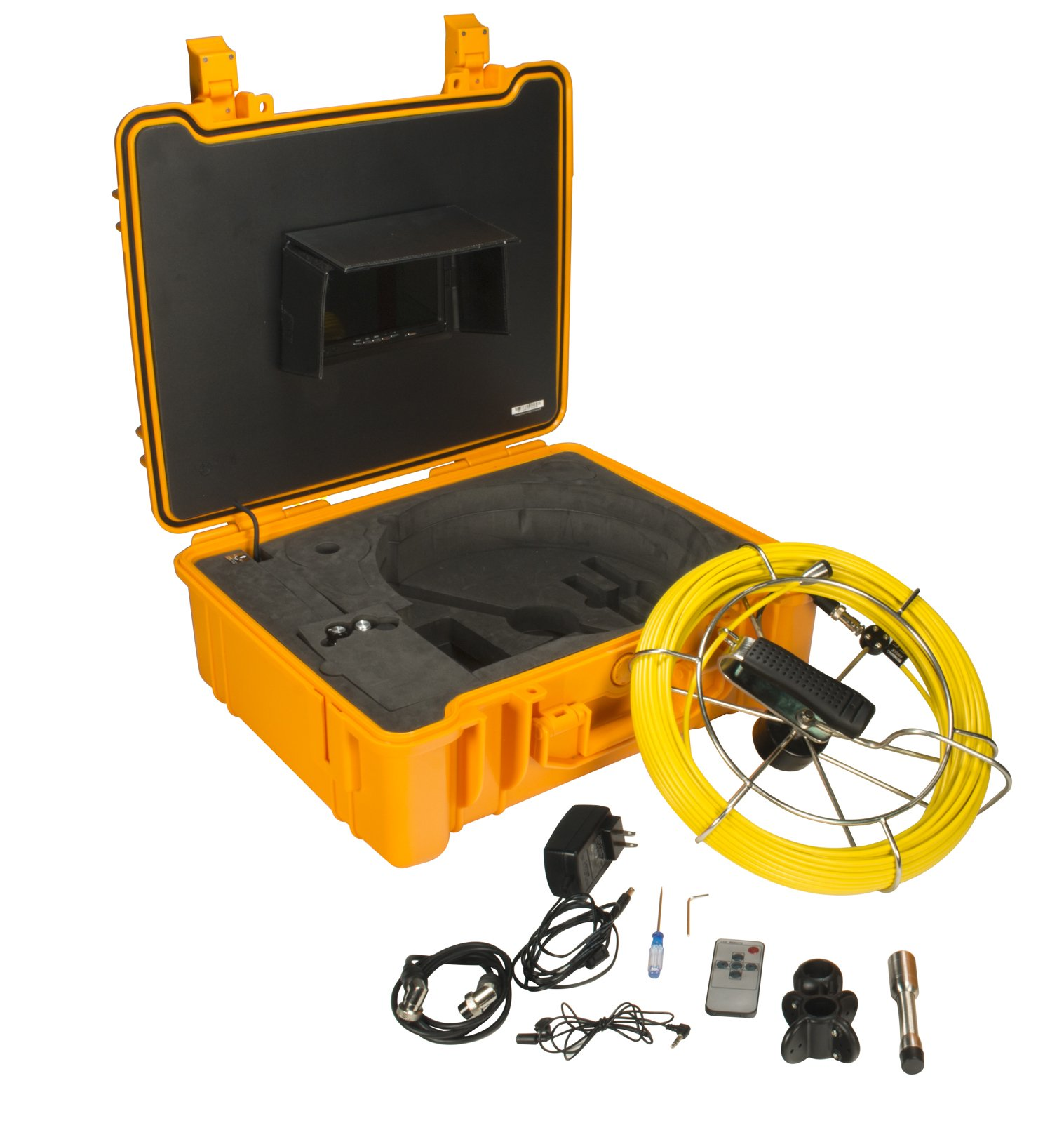 Steel Dragon Tools Model 710DN Pipe Inspection Camera with DVR and 130 FT Cable by Steel Dragon Tools