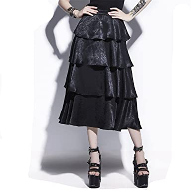 68f5ae7d93e4 Rosetic Gothic Black Women Fall Pleated Casual Goth Skirts Vintage Young  Fashion Retro Party Darkness A-Line Gothics Skirt at Amazon Women's Clothing  store: