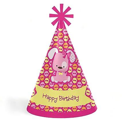 Amazon.com: Niña cachorro perro – Cono feliz cumpleaños ...