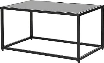 Tesco Lawrence Metal Frame Glass Top Coffee Table Black