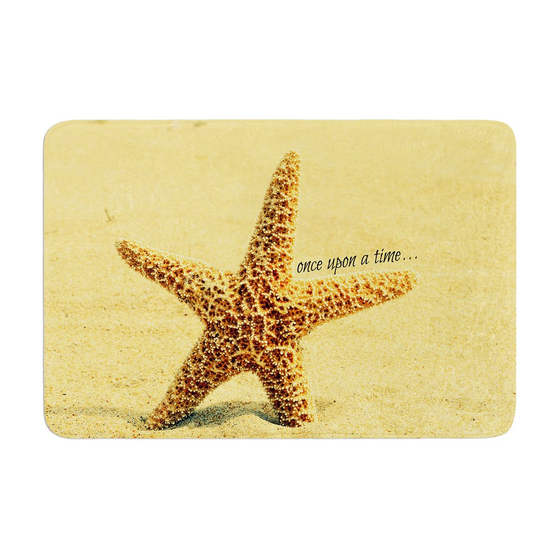 Kess InHouse Robin Dickinson Once Upon a Time Starfish Memory Foam Bath Mat 17 by 24