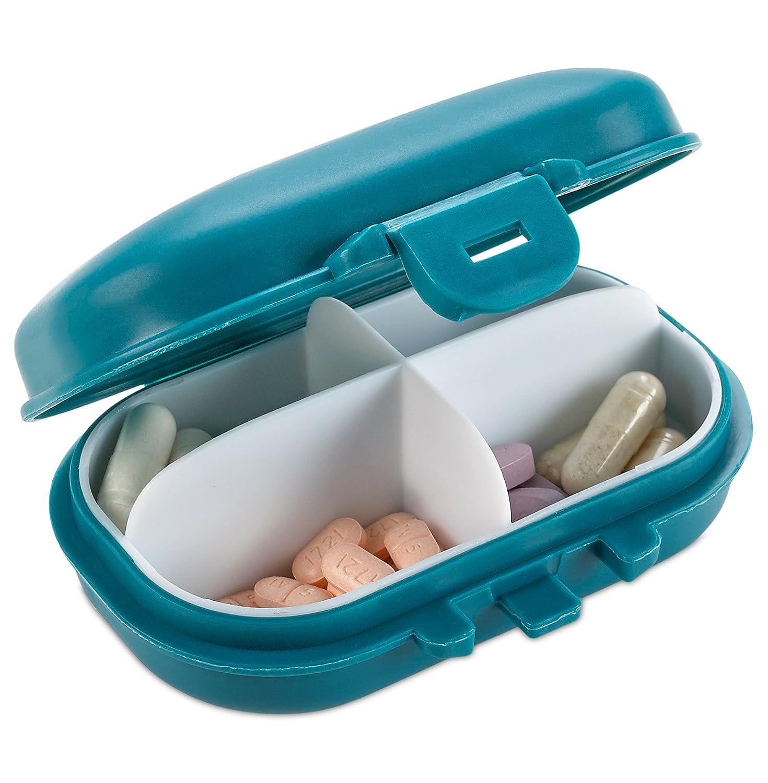 Organizador de vitaminas para el uso diario en bolsillo o cartera: Amazon.es: Salud y cuidado personal