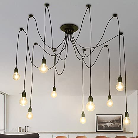 SUNDELY® 10 Jefes Vintage Edison múltiples ajustable DIY ...
