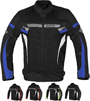 ALPHA CYCLE GEAR BREATHABLE BIKERS RIDING PROTECTION MOTORCYCLE JACKET MESH CE ARMORED BLUE MOON, XX-LARGE