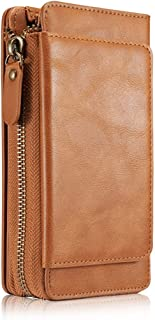 iPhone 8 Plus Wallet Case,iPhone 7 Plus Case,Ayans PU Leather Zipper Wallet Case with Card Holder and Strap, Detachable Back Cover Purse Clutch for iPhone 7Plus 8Plus,5.5'