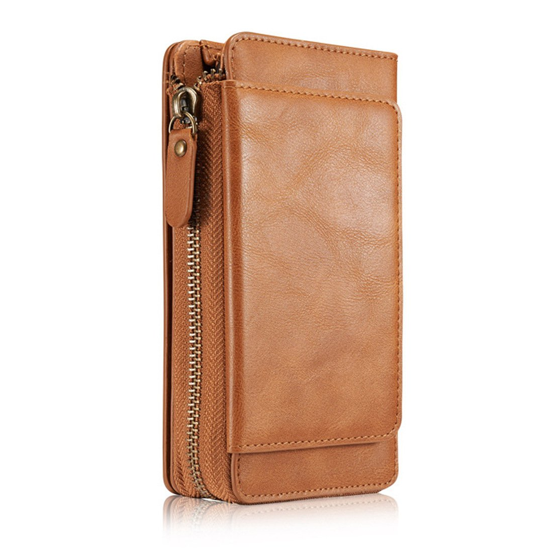 iPhone X Wallet Case,iPhone X Case,Ayans PU Leather Zipper Wallet Case with Card Holder and Strap, Detachable Back Cover Purse Clutch for iPhone X/iPhone 10 (5.8 inch)