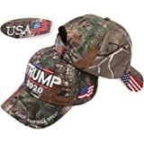 MOAUGYO Keep America Great hat, Donald Trump MAGA Cap Adjustable Baseball Hat with USA Flag - Camouflage Cap Trump Hat