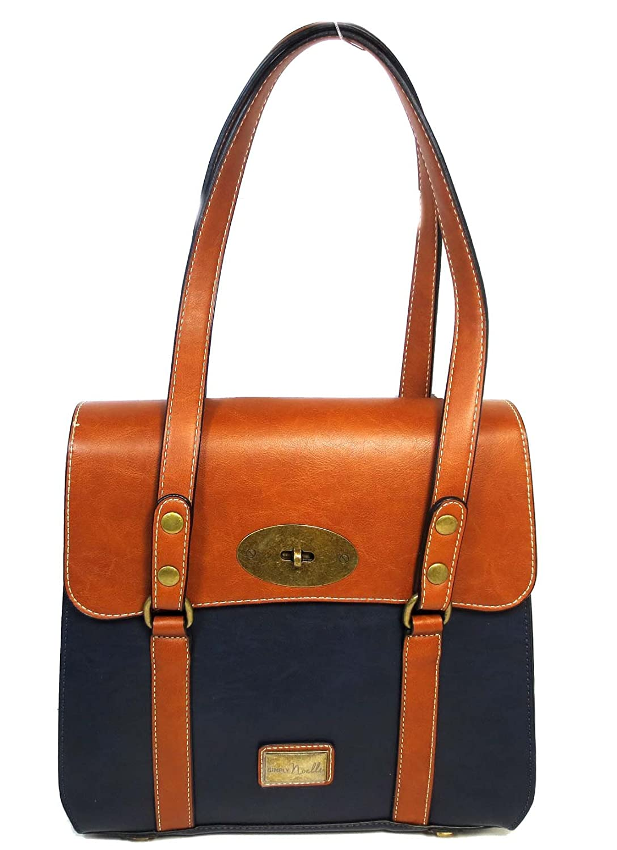 Simply Noelle Jet Setter Core Vegan Faux Leather Handbag In Harbour Blue