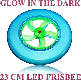 Cpuk (TM) Large 23cm LED Glow in the Dark Light Up cane disco frisbee disco volante illuminato Outdoor UFO Disc bambini giocattolo regalo Glowing spin volano