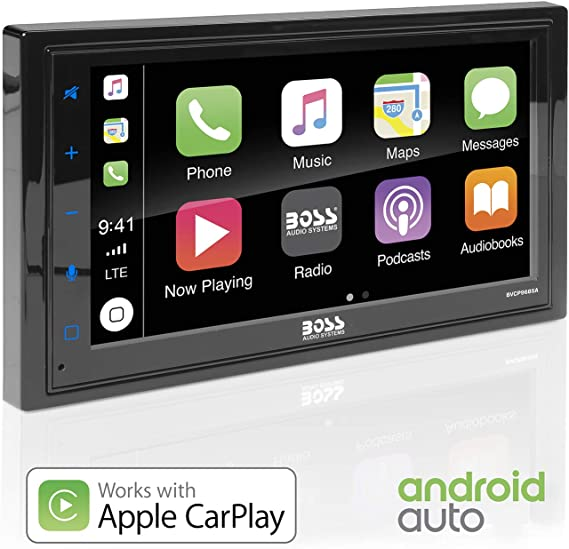BOSS Audio BVCP9685A Apple Carplay Android Auto Car Multimedia Player - Double Din Car Stereo