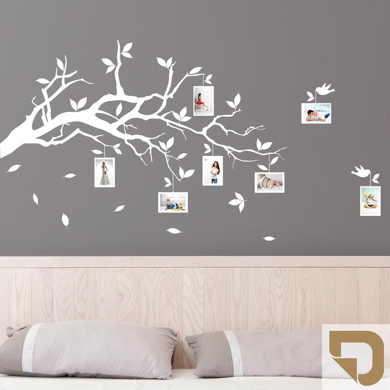 DESIGNSCAPE® Wandtattoo Ast mit Fotorahmen 120 x 72 cm (Breite x Höhe) schwarz DW804006-M-F4 B01E7KST7Y Wandtattoos & Wandbilder