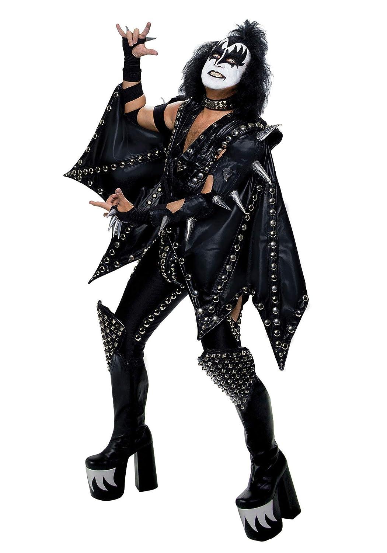 2X Plus Größe Authentic Gene Simmons KISS Fancy Dress Costume 2X