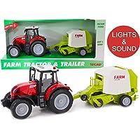 TOYLAND® Tractor y empacadora roja de 37 cm