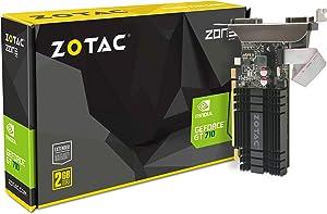 ZOTAC GeForce GT 710 2GB DDR3 PCI-E2.0 DL-DVI VGA HDMI Passive Cooled Single Slot Low Profile Graphics Card (ZT-71302-20L) (Renewed)