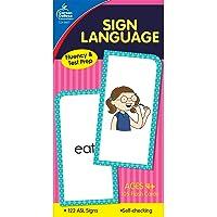 Carson Dellosa | American Sign Language Flash Cards | All Ages, 105ct