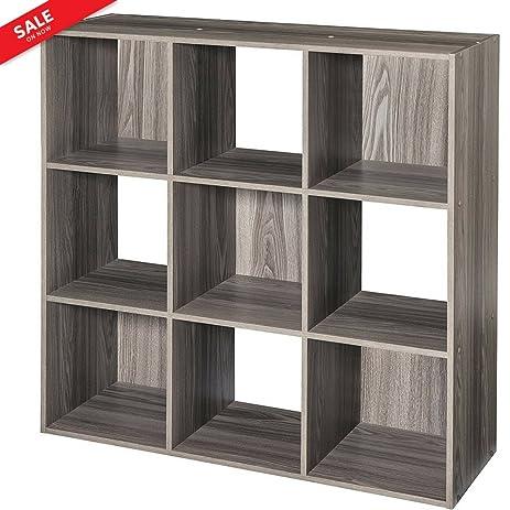 Exceptionnel Cubical Shelf Organizer Storage Unit Adjustable 9 Cubby Stackable Storage  Sections Organizer Decorative Indoor Home