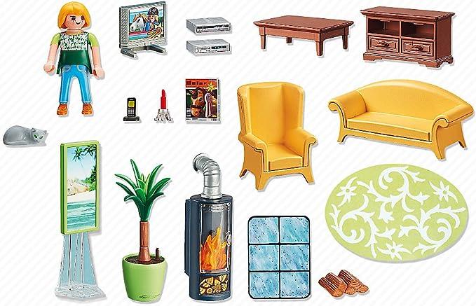Amazon.es: Playmobil Sala de Estar con Fuego 5308: Juguetes y juegos