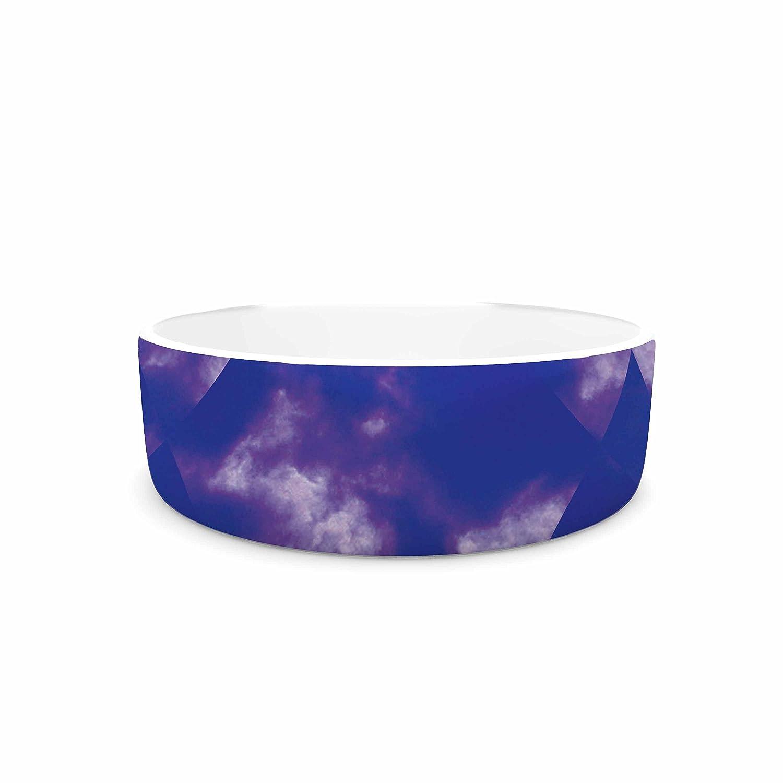 KESS InHouse Matt Eklund Spectral  Purple bluee Pet Bowl, 7
