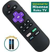 Replace HU-RCRUS-20 Remote Compatible with Hisense Roku TV Remote Control Replacement, Universal for Hisense Smart TV Remote