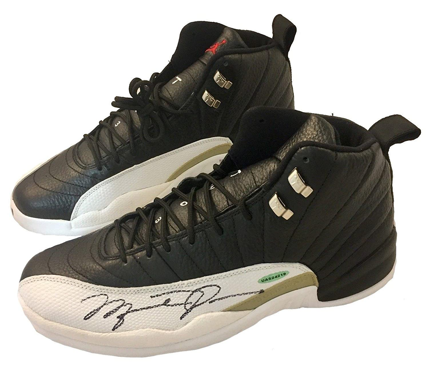 huge selection of edf70 36413 Michael Jordan Autographed Air Jordan 12 Shoes Authenticated UAS24219 -  Upper Deck Certified - Autographed NBA Sneakers at Amazon s Sports  Collectibles ...