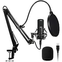 AADPLYA USB Microphone Kit 192KHZ/24BIT Plug & Play Condenser Computer Cardioid Mic with Professional Sound Chip Set…