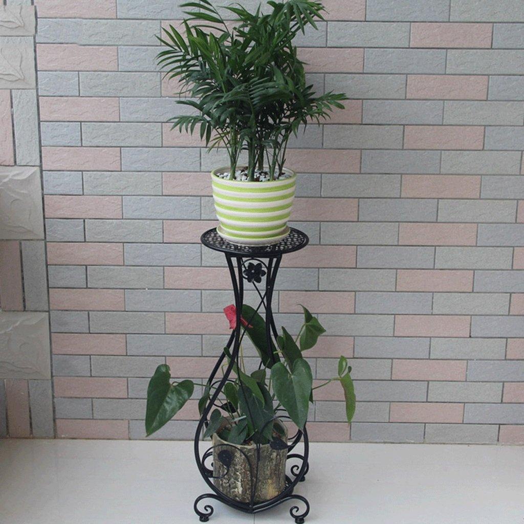 Udfybre Espositore per Piante da Esterno in Ferro battuto con ripiano in Vaso per balconi e scaffali (colore   B)