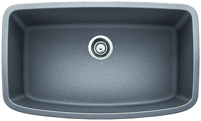 Blanco 441775 Valea Super Single Bowl Sink, Metallic Gray