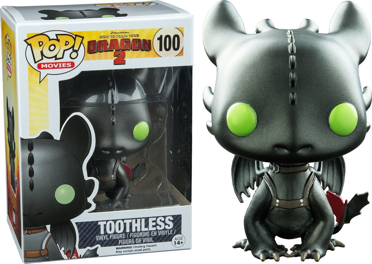 Funko How To Train Your Dragon 2 Pop Vinyl Metallic Toothless Vinyl Figure Exclusive by FunKo