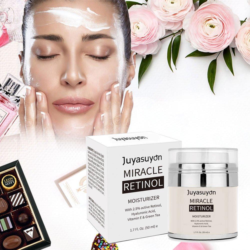 Crema Hidratante con Vitamina A C E, Retinol de Pawaca crema para cara y ojos, antienvejecimiento, fórmula reductor de arrugas y líneas finas, ...